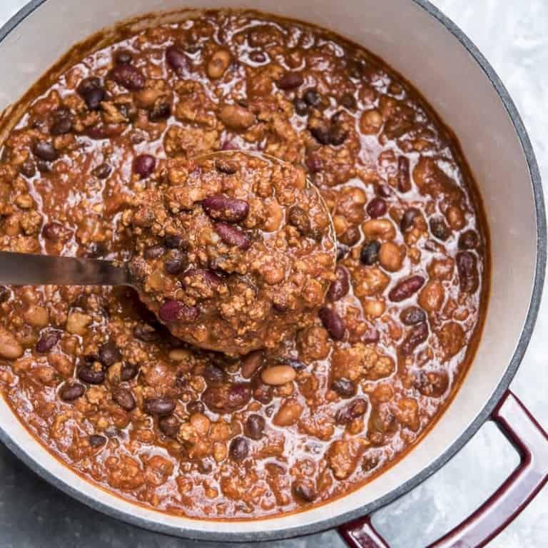Three Bean Turkey Chili - Valerie's Kitchen