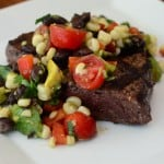 Steak with Grilled Corn and Black Bean Salsa 2012-08-30 116-2