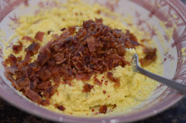 Bacon Horseradish Deviled Eggs
