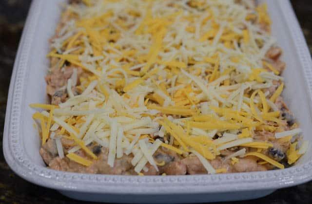 Warm Cheesy Bean Dip - From Valerie's Kitchen