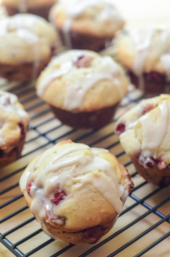 Glazed Strawberry Muffins
