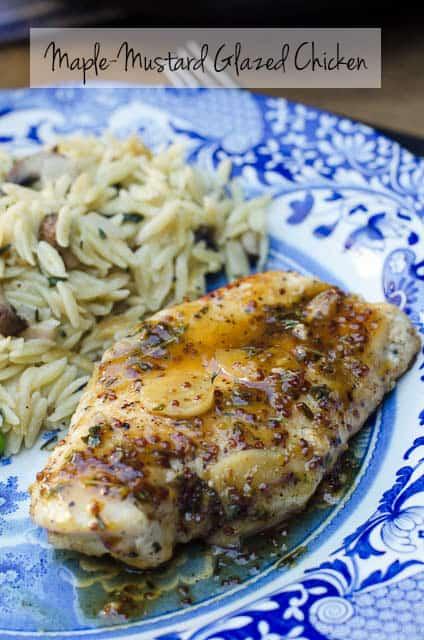 Maple-Mustard Glazed Chicken - From Valerie's Kitchen