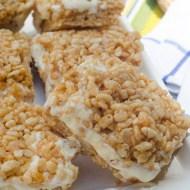Peanut Butter Rice Krispie Ice Cream Sandwiches