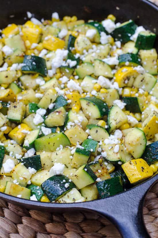 Zucchini and Sweet Corn with Feta-011