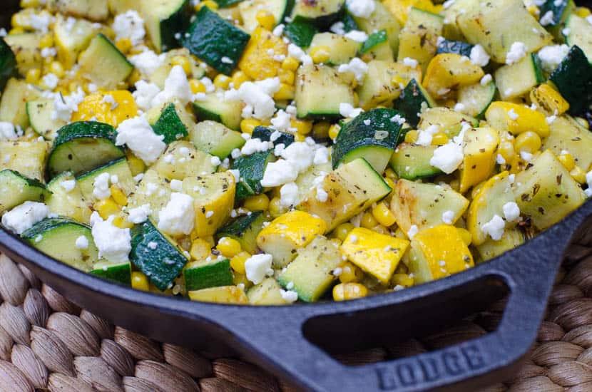 Zucchini and Sweet Corn with Feta-051