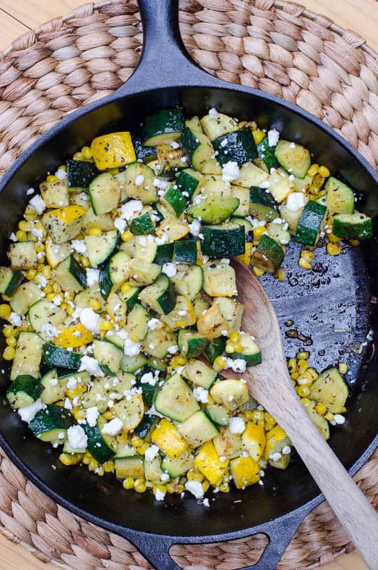 Zucchini and Sweet Corn with Feta-082