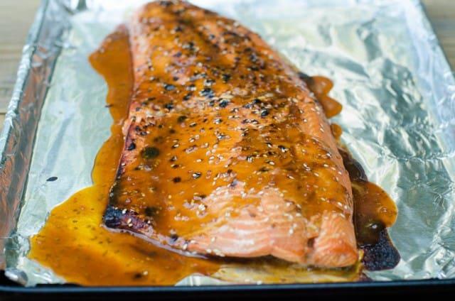 Easy Sesame Teriyaki Salmon