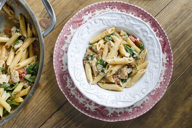 Chicken-Spinach-Skillet-Pasta
