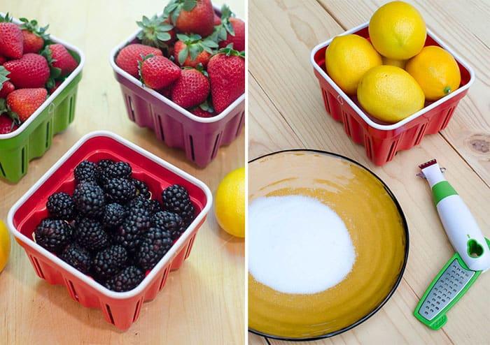 Crisp Berry Baskets and Zester