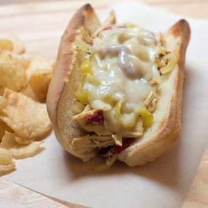 Crock-Pot Chicken Philly Cheesesteak Sandwiches