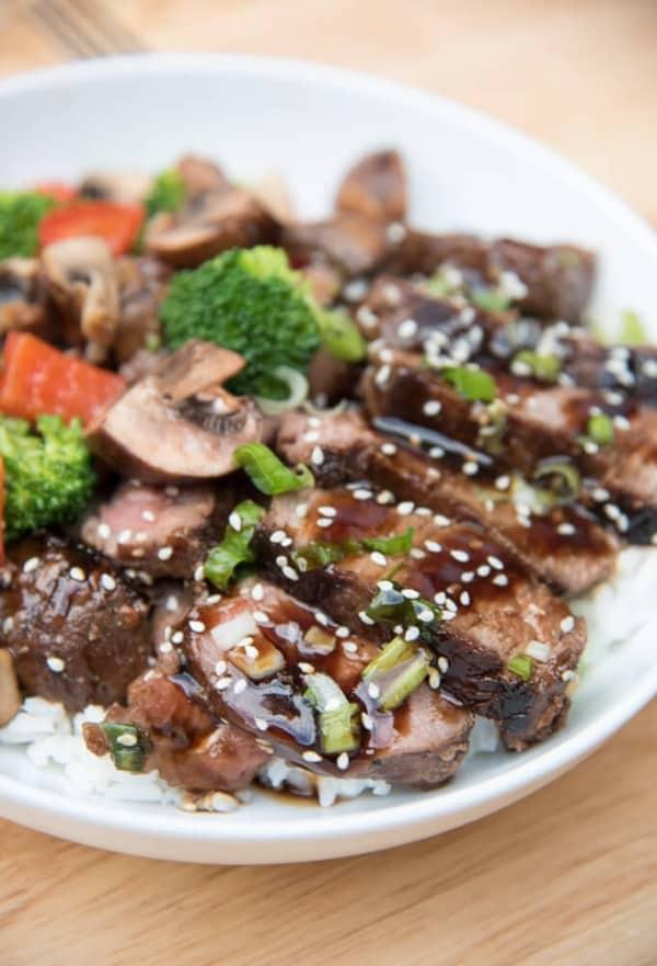 Grilled Steak Teriyaki