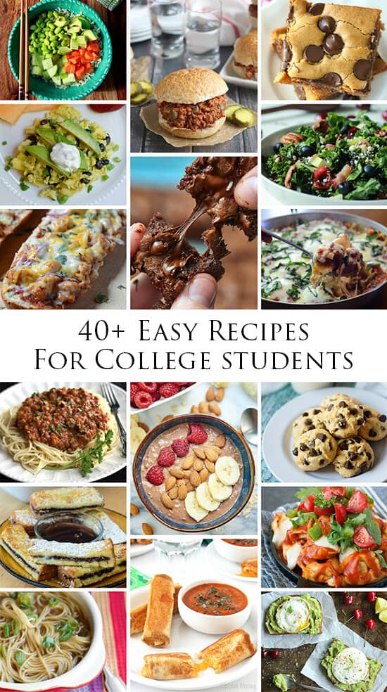 Fast easy recipes for college students
