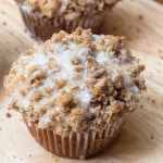 Glazed Apple Coffee Cake Muffins