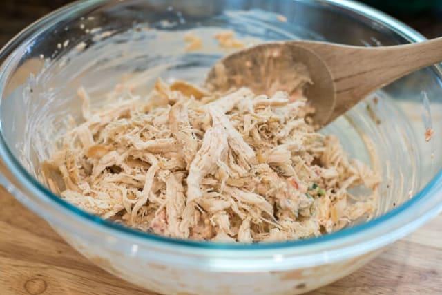 Southwest Chicken Tortilla Pinwheels