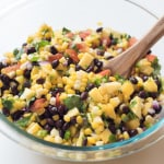 Mango Corn Salsa with Black Beans