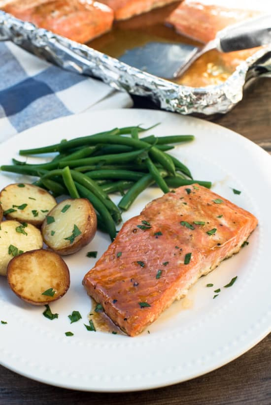 oven roasted maple salmon recipe. Black Bedroom Furniture Sets. Home Design Ideas