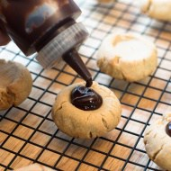 Peanut Butter Chocolate Thumbprints