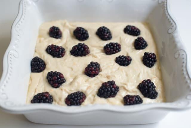 Blackberry Buttermilk Snack Cake - Valerie's Kitchen
