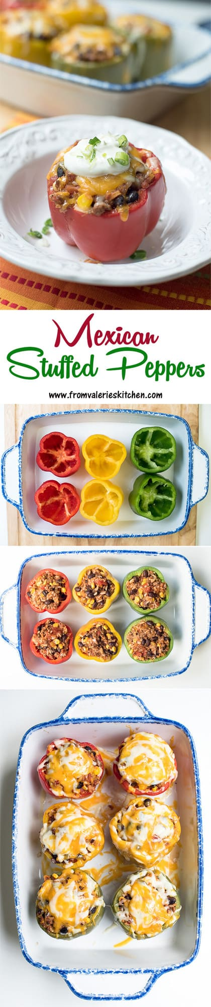 Mexican Stuffed Peppers | From Valerie's Kitchen