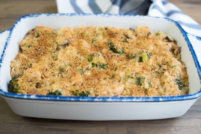 Creamy Chicken Broccoli and Rice Casserole - Valerie's Kitchen