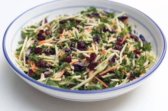5 Minute Broccoli Kale Slaw