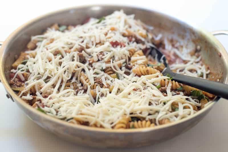 Cheesy Beef Skillet Pasta