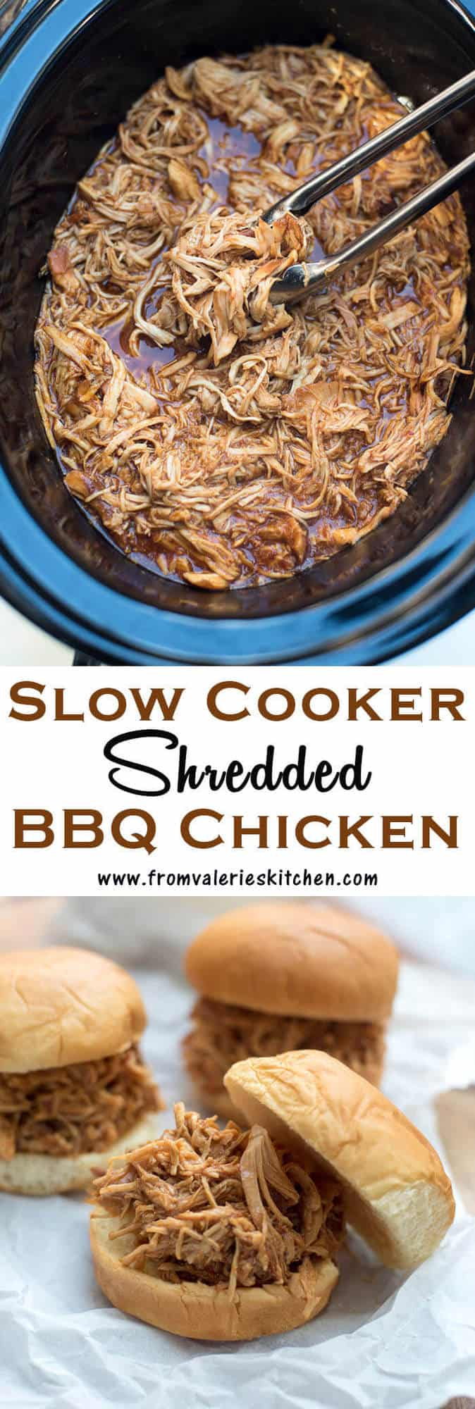 This Slow Cooker Shredded BBQ Chicken is an incredibly easy way to create tender, shredded BBQ chicken that can be used in a variety different meals.