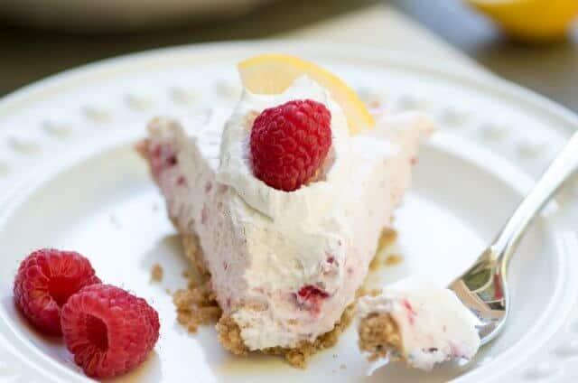 Creamy Lemon Raspberry Pie