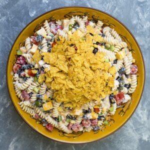 Southwest Ranch Chicken Pasta Salad