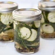 Refrigerator Zucchini Pickles