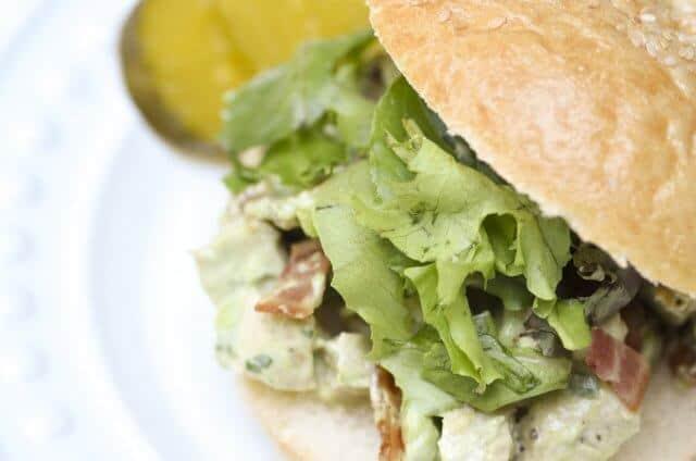 Avocado Bacon Chicken Salad Sandwiches