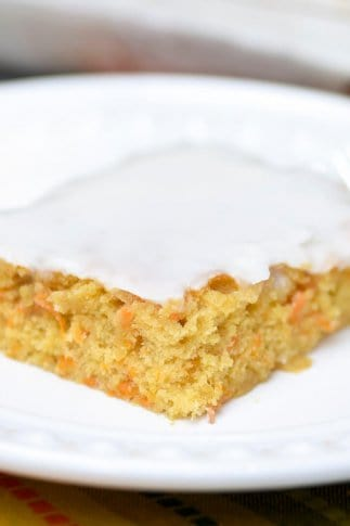 A slice of yam cake on a plate.