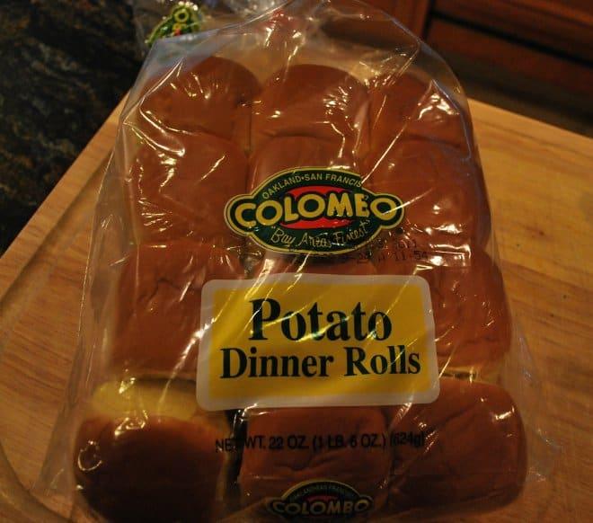 Ham and Cheese Sliders - Potato Dinner Rolls
