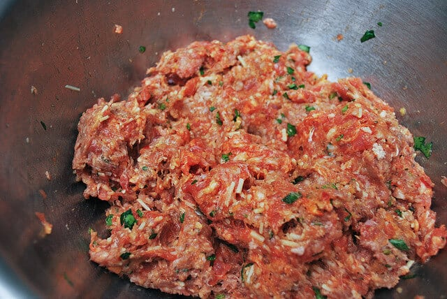Spaghetti and Meatballs - Meatball mixture