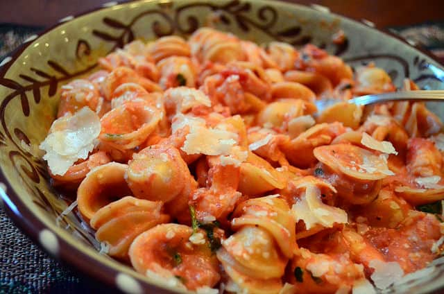 Oricchette with Shrimp in a Vodka Sauce