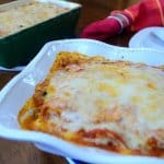 Two dishes of lasagna.