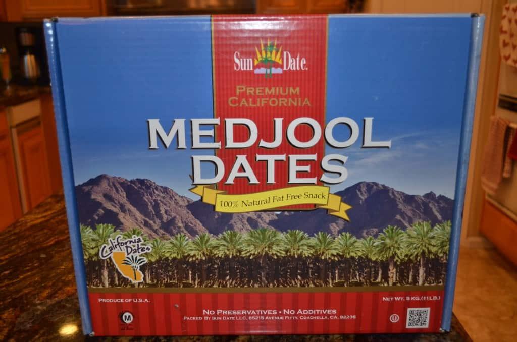 A box of Medjool Dates.