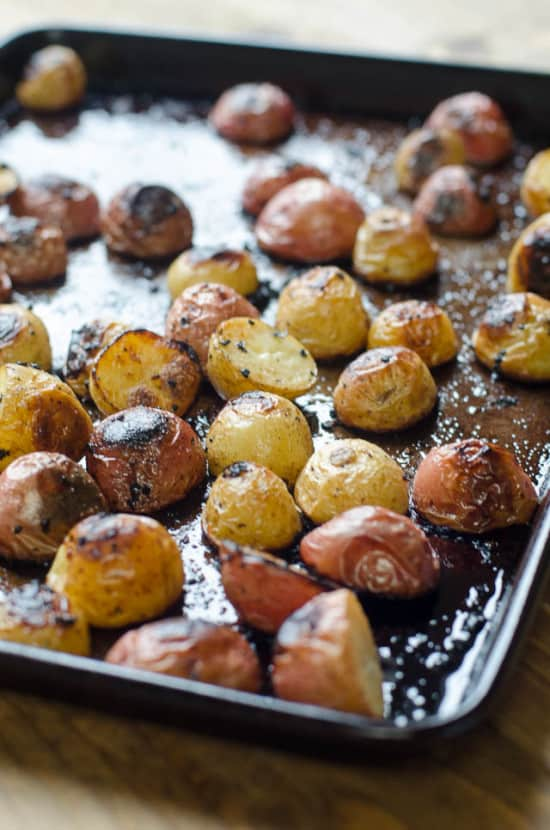 Lemon and Garlic Roasted Potatoes