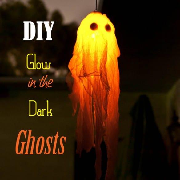 DIY Glow in the dark ghosts.