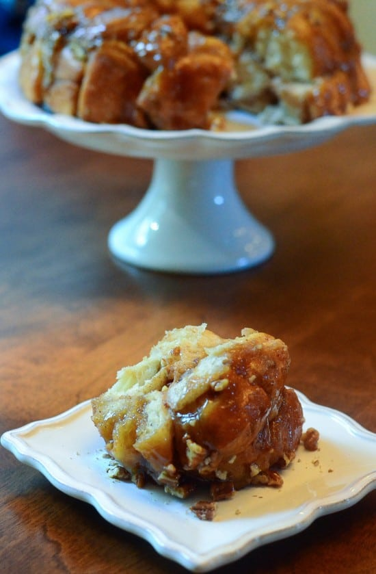 A serving of Maple Pecan Monkey Bread.