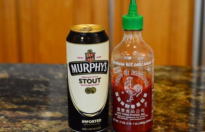Murphy's Stout and Sriracha