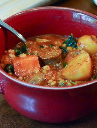 Italian Sausage and Barley Stew