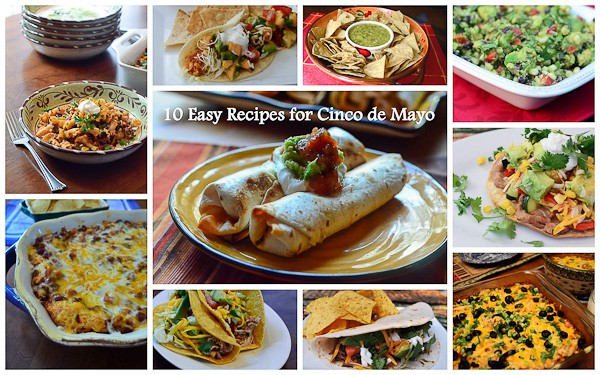 A collage of recipes to make on Cinco de Mayo.