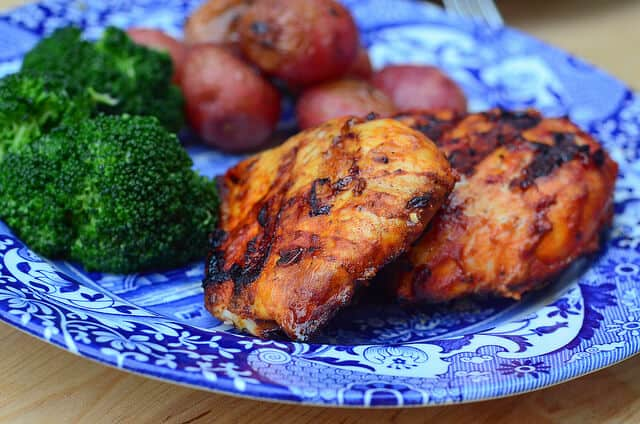A plate of Smoky Grilled Paprika Chicken.