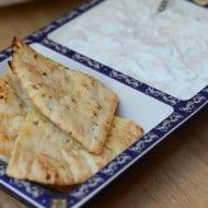 Toasted Pitas with Tzatziki Sauce