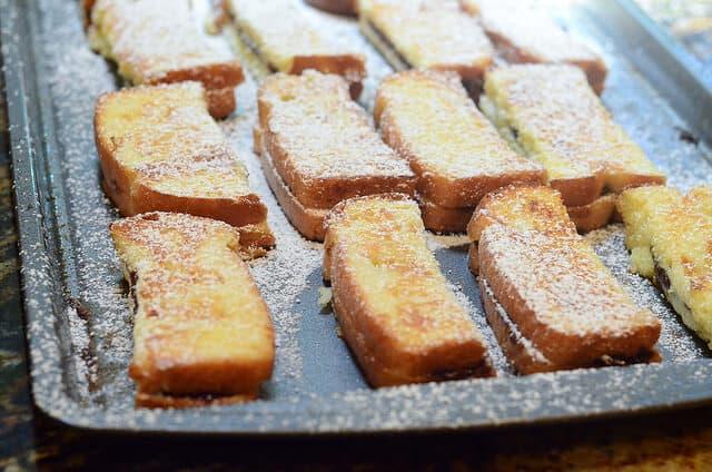 Nutella Stuffed French Toast Sticks