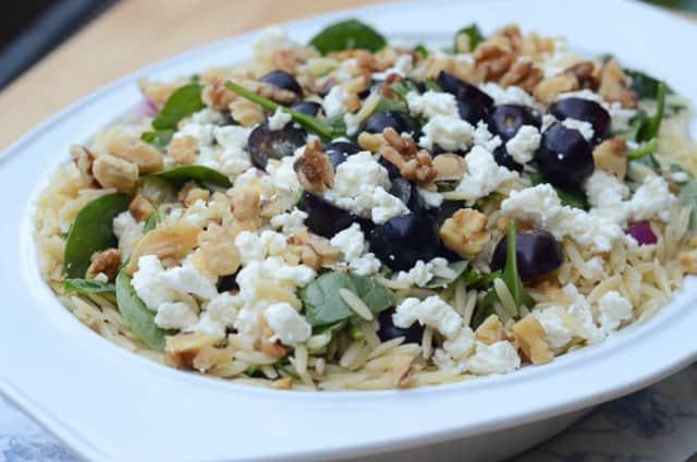 Orzo Grape Feta Salad