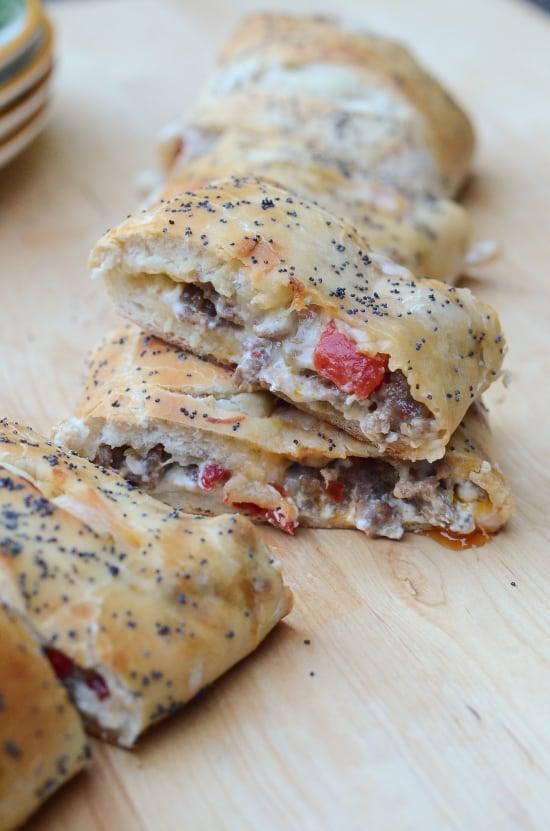 Italian Sausage Appetizer Bread