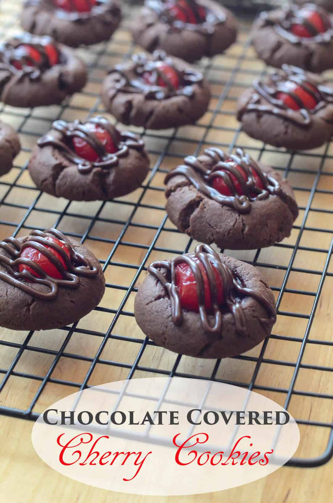 Chocolate Covered Cherry Cookies - Easy Recipes for Valentine's Day
