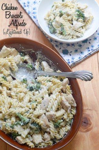 Chicken Broccoli Alfredo (Lightened Up)